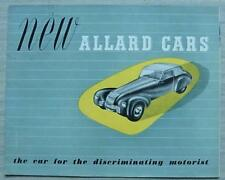 ALLARD CAR RANGE Car Sales Brochure c1949 COUPE Saloon COMPETITION