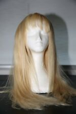 """Ash blonde human hair lace front wig 20"""" inch long"""