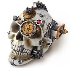 Alchemy Gothic Erasmus Darwin's Steampunk Cerebrum Skull Drawer Statue Decor V4