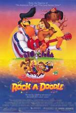 ROCK-A-DOODLE Movie POSTER 27x40 B Sorrell Booke Glen Campbell Eddie Deezen