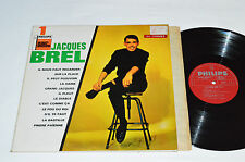 JACQUES BREL No. 1 LP Philips Canada Red Labels 844.767 VG/VG French Pop