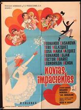 352 Novias Impacientes, original 1967 Mexican movie Poster, Fernando Casanova