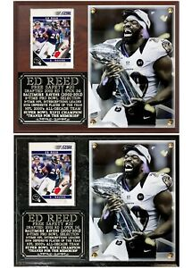 Ed Reed #20 Baltimore Ravens 2002-2012 Photo Card Plaque