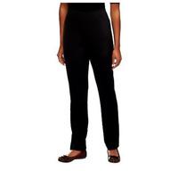 Susan Graver Milano Knit Petite Straight Leg Pull-on Pants - Black - XXSmall