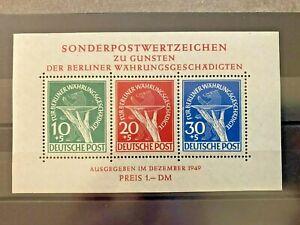 Berlin Währungsgeschädigte Block 1 postfrisch Schlegel-geprüft mit Attest