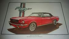 MCCULLAGH AUTOMOTIVE PIONEER COLLECTION print 1965 FORD MUSTANG CONVERTIBLE CAR