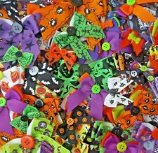 More details for halloween dog collar bows assorted mix bulk packs for groomers grooming