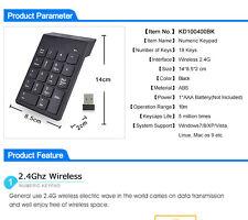 2.4GHz Mini Tasteira Tastierino Numerico 18 Tasti USB per PC Laptop Windows Mac