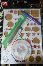 Nip Paper Quilling Template Diy Tool Kit Craft Board Rolling Mould Slotted Tool