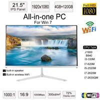 """21.5""""All-in-one Desktop PC Office Computer Wireless WiFi Speaker I7-620MM 120GB"""