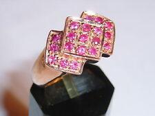 Rubin Silber massiv Ring  vergoldet