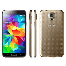 (Gold) 5.1'' Samsung Galaxy S5 G900P 16GB 16.0MP GSM 3G 4G Unlocked Mobile Phone