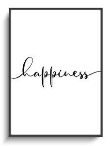 Dekoration Zuhause Happiness Wandbild A4 Poster Spruch Gastgeschenk Haus Druck