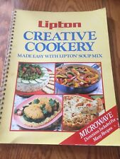 1987 Lipton Creative Cookery Made Easy w/ Lipton Soup Mix Microwavable Cookbook
