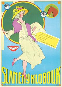 Original Vintage Poster Czech Film Movie Straw Hat Iva Janzurova Milos Kopecky