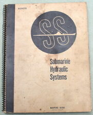 SS Submarine Hydraulic Systems Navpers 16169 June 1945, Restricted, Scarce 1st
