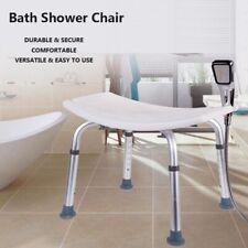 Non-slip Aluminium bath chair Shower Stool Seat Mobility Height Adjustable Bath