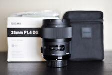 Sigma AF 35mm 1.4 DG Art FX Prime Lens - For Nikon - US Model!