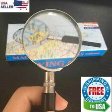 "Magnifying Glass 6X Reading Magnifier HANDHELD 2"" Glass Lens Jewelry Loupe Loop"