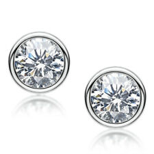 Silver 2CT Moissanite Diamond Earring Wedding Engagement earrings Women Gift