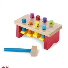 Pounding Bench Fun Toys For Kids Deluxe Wooden With Mallet Play Birthday Gift