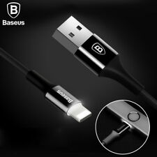 Baseus LED Light USB Cable 2A Fast Sync For iPhone x 8 7 6 6s Plus 5 5s se