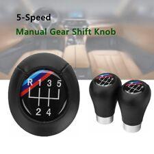 5 Speed Gear Shift Knob Leather For BMW 3 5 6 Series E34 E36 E39 E46 E60 E90