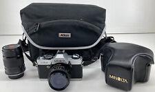New ListingMinolta Xg-A 35 mm Slr Film Camera Mint Condition w/ Case and 2 Lens'