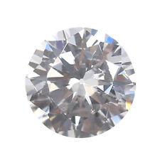 Fine White Zircon Diamonds Round Cut 4*4 MM VVS Loose Gemstones 3pcs