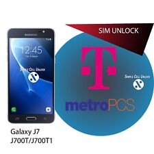 Samsung Galaxy J7 J700T/J700T1 T-Mobile Metro SIM Network Unlock Remote Service