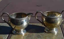 Fisher 1920's Sterling Silver Creamer & Sugar Bowl 212 Grams of Sterling Silver