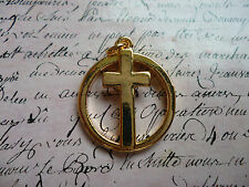 Gold Cross Crucifix Christianity Religion Statement Costume Jewellery Ring