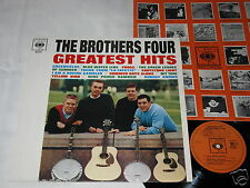 THE BROTHERS FOUR greatest hits LP CBS Rec. HOLLAND 1966 Rare FOLK !!!