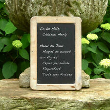 Vintage French Child's School Slate Chalkboard, Stamped Suger, Paris Bistro Menu