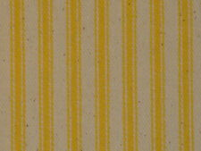Sun Yellow Woven Twill Ticking Stripe Cotton Material Vintage Inspired BTY