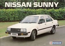 Nissan sunny 1984-85 uk market sales brochure saloon coupe estate l gs sgl