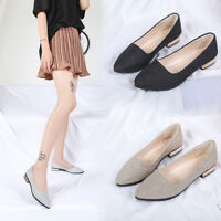 Womens Sequins Shallow Slip On Low Heel Flat Party Shoes Pointed Single Shoes