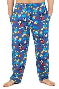 Disney Mickey Mouse Mens Pyjama Bottoms, Cotton Lounge Wear, Gifts For Him