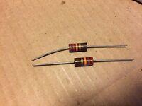 2 NOS Allen Bradley 22k ohm 2 watt 2W Carbon Comp Resistors 5% TESTED (qty avail