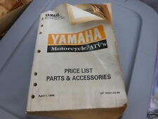 OEM 96 Yamaha Motorcycle ATV Parts and Accessories Price Book LIT-10021-02-85