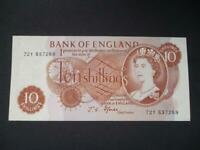 1967 FFORDE TEN SHILLING NOTE IN UNCIRCULATED CONDITION DUGGLEBY REF B309