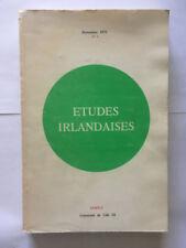 ETUDES IRLANDAISES N°4 NOVEMBRE 1975 IRLANDE