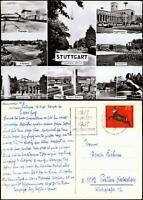 Ansichtskarte Stuttgart MB: Flughafen, Bahnhof, Fernsehturm uvm 1960