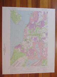 Steilacoom Washington 1976 Original Vintage USGS Topo Map