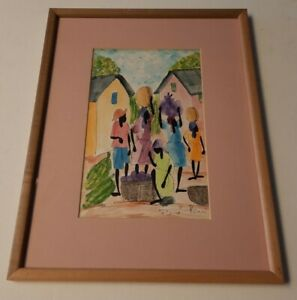 PIERRE HENRI PHILIPPE Original Watercolor Painting SIGNED Listed Jamaican Artist