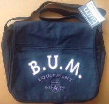 Vintage 90's BUM Equipment Messenger Shoulder Laptop Bag Black Purple Rare! Nice