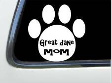 "ThatLilCabin - Great Dane Mom Paw Print 6"" As1533 car sticker decal"