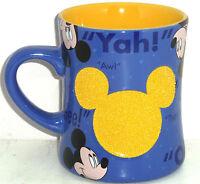 Disney Mickey Mouse Coffee Mug Blue Oh Boy Cup Theme Parks New