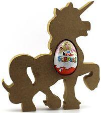 Unicorn Freestanding MDF Kinder Egg Holder, Easter Gift Blank craft Shape