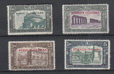 SOMALIA 1930 MILIZIA III  4 VALORI SS. 140 - 143  NUOVA MLH LINGUELLATA FRESCA